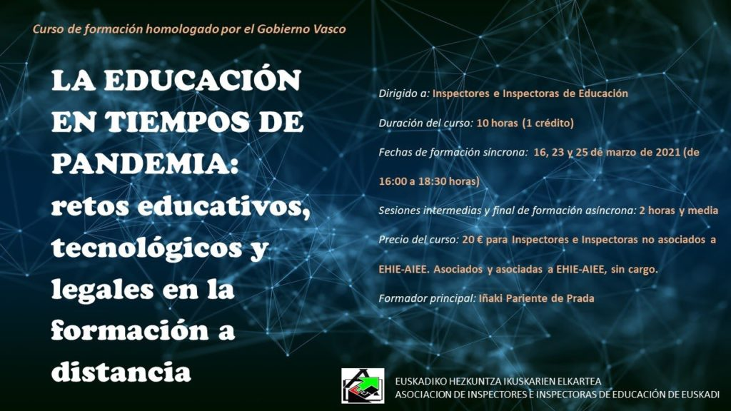 LA EDUCACIÓN EN TIEMPOS DE PANDEMIA: Retos educativos, tecnológicos y legales en la educación a distancia